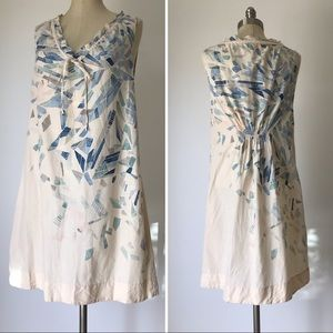 Lilka for Anthro cotton dress watercolor Sz Small